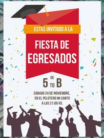 20 Invitación Egresados Graduación Primaria Secundaria