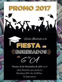 20 Invitación Egresados Graduación Primaria Secundaria Byn