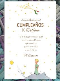 20 Invitación El Principito Cumpleaños Primer Año Bautismo