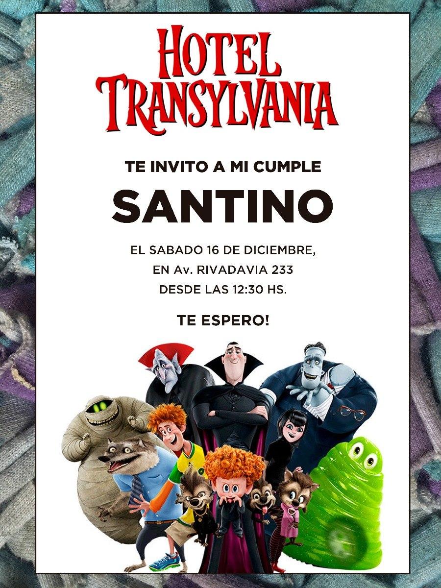 20 Invitacion Hotel Transilvania Cumpleaños