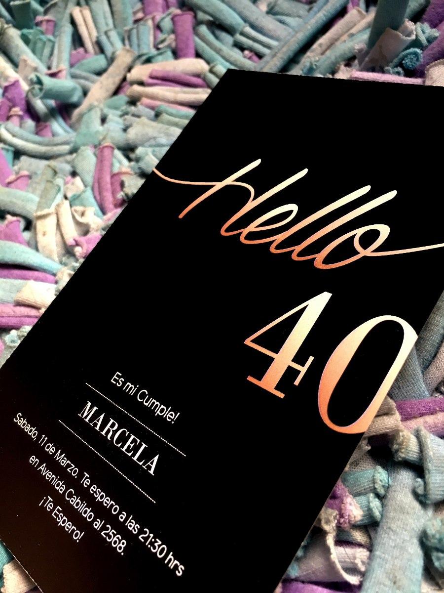 20 Invitacion Para Cumpleaños De 40 Años