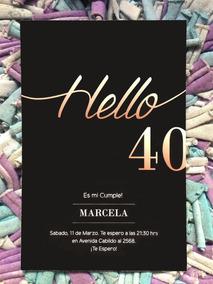 Tarjetas De Invitacion Cumpleaã Os 40 Aã Os Graciosas