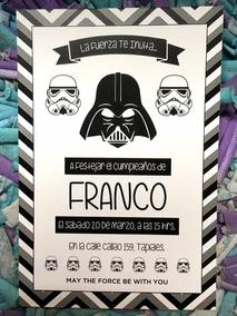 20 Invitación Star Wars Para Cumpleaños Bautismo Primer Año