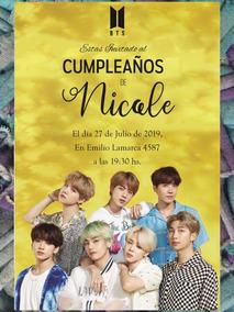 20 Invitaciones Bts Cumpleaños 15 Años Musica