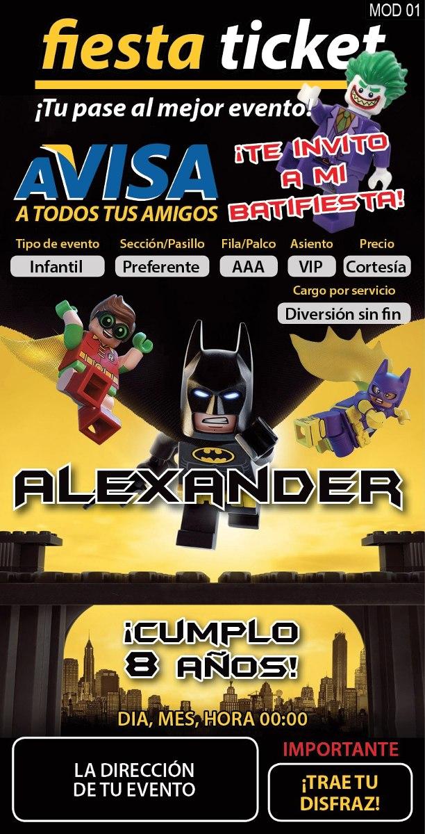 79d07e7110e2 Affordable Price Lego Batman 7105 Invitaciones