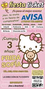 Tarjetas De Invitacion Hello Kitty Invitaciones