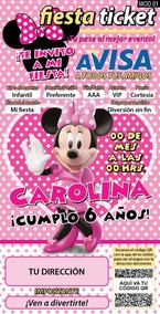 Tarjetas Invitacion Minnie Invitaciones Y Tarjetas De