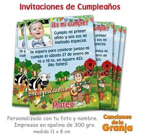 20 Invitaciones Infantiles Canciones De La Granja Zenón Foto