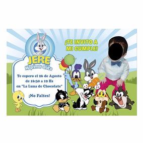 45 Invitaciones Personalizadas Baby Toons C S Foto Tarjetas