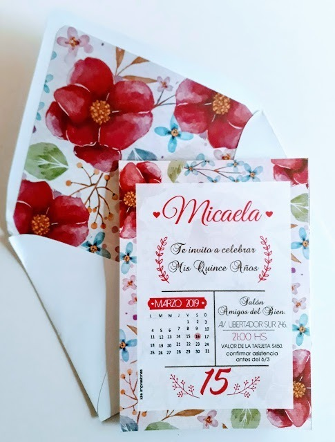 20 Invitaciones Tarjetas 15 Años Casamiento Quince Años Bar