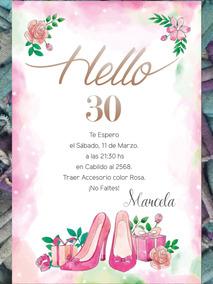 20 Invitaciones Temáticas Zapatos Cumpleaños 40 Años