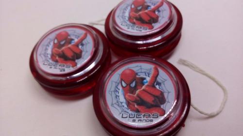 20 ioios personalizados homem aranha - cor vermelha