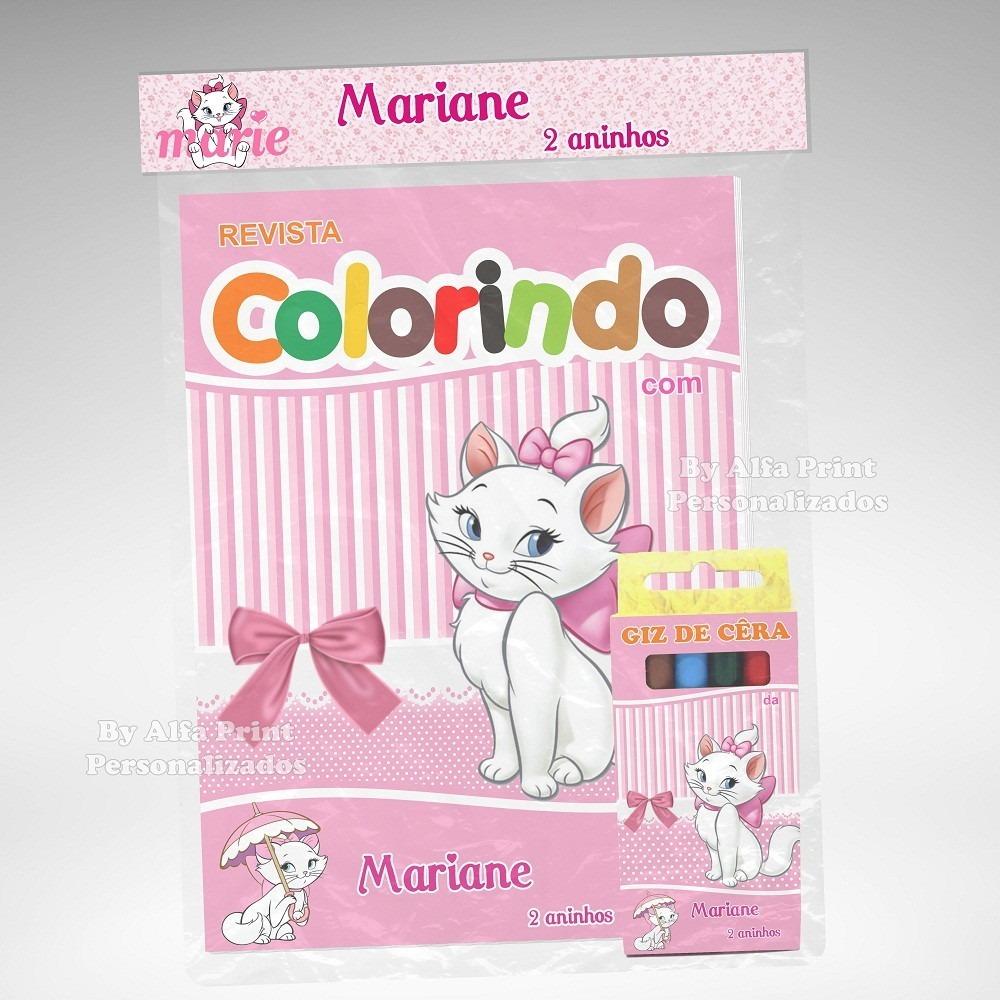 20 Kit Colorir Da Gata Marie Revista Lembranca Brindes R 105