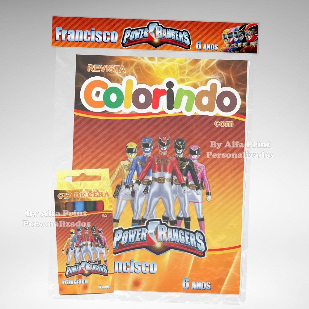 20 Kit Colorir Power Rangers Revista Lembranca Brindes R 105