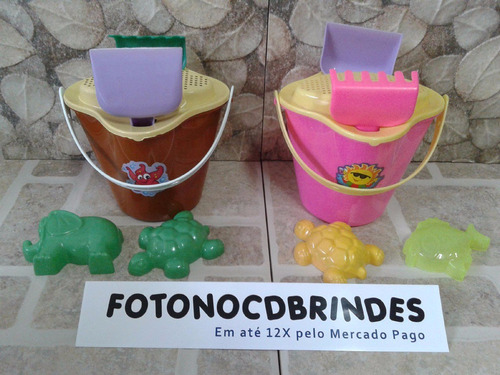 20 kits baldinho de praia lembrancinha