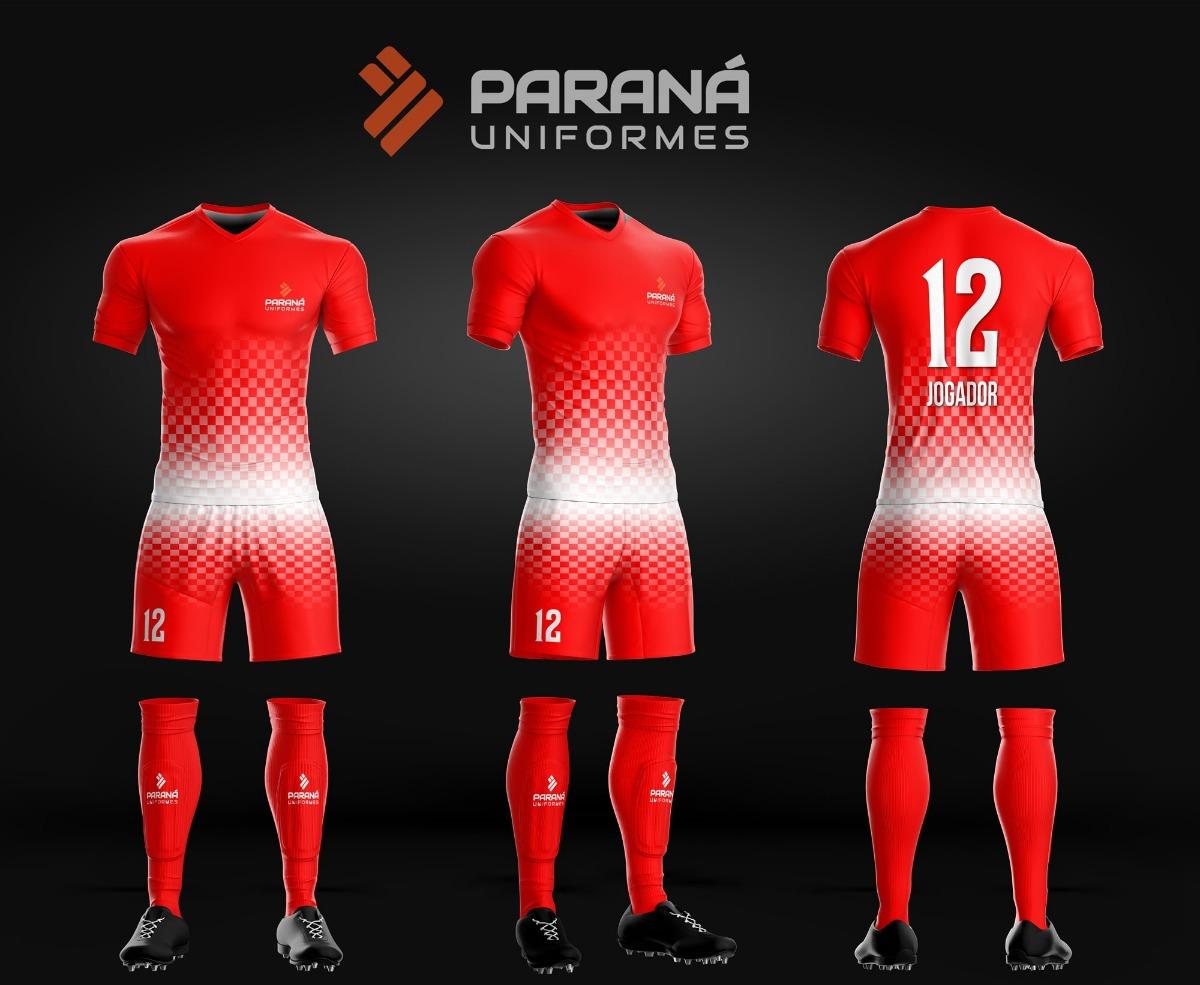 20 kits uniforme esportivo personalizado - paraná uniformes. Carregando  zoom. 1ca025d6b922a