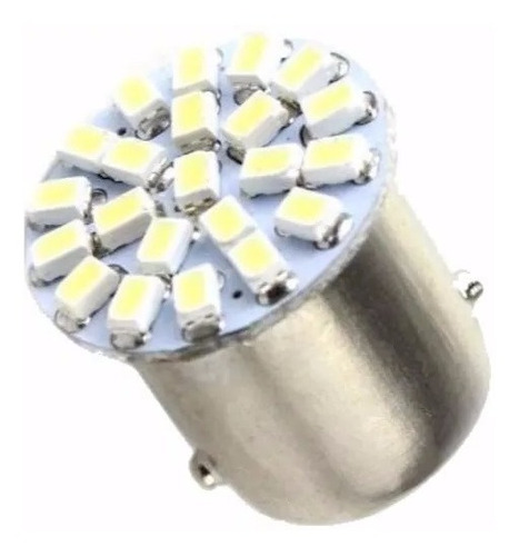 20 lampada 2 polos 12v led 1157 1034 branca freio lanterna