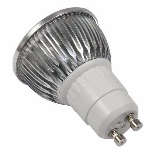 20 lampadas led dicroica bivolt branco quente spot gu10 3w