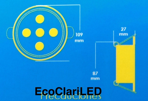 20 lamparas led 5 watts para bote integral o plafon 9 cm