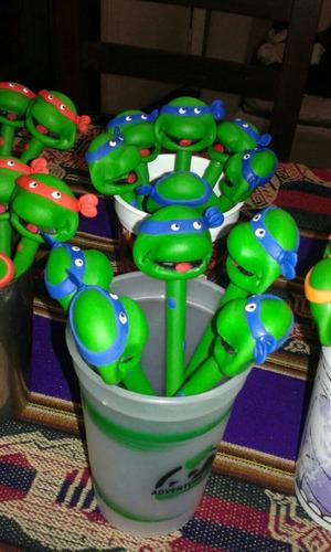 20 lapiceras de personajes con porcelana fria