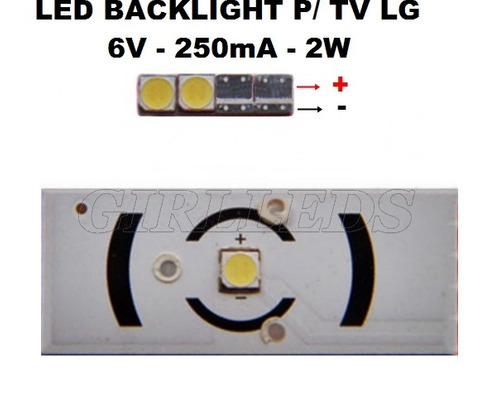 20 leds 3535 backlight tv lg similar innotek- 6v/2w/250ma