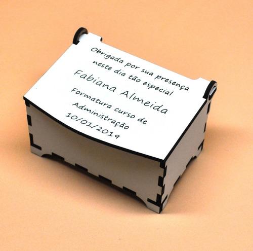 20 lembrancinhas formatura caixinha mdf personalizada laser
