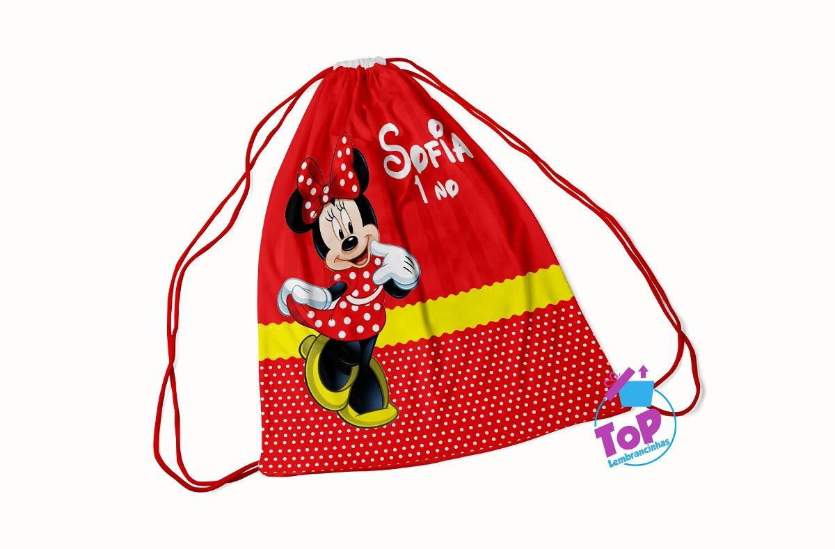 49840ffcf 20 lembrancinhas minnie vermelha - mochila saco 30x40cm. Carregando zoom.