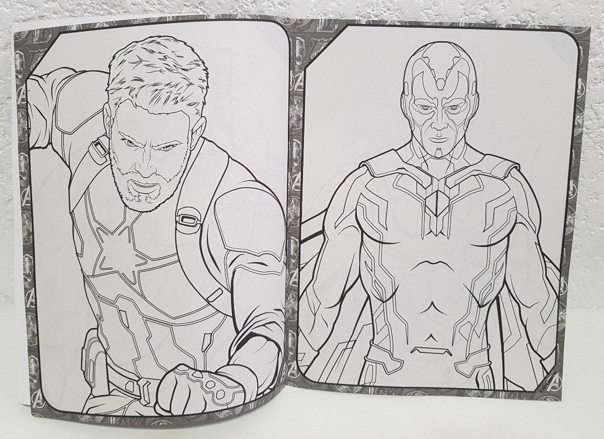 20 Libros Colorear Fiesta Avengers Infinity War Dulcero Bolo ...