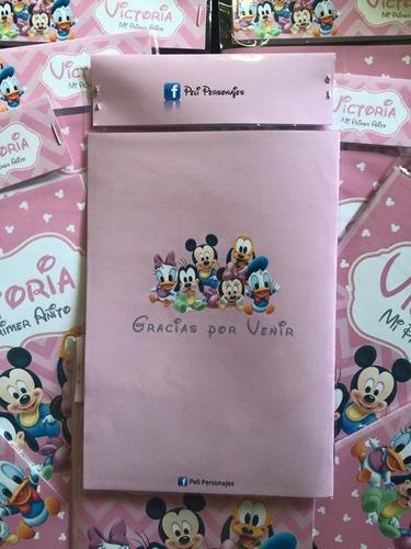 20 libros colorear personalizados souvenir casa de mickey