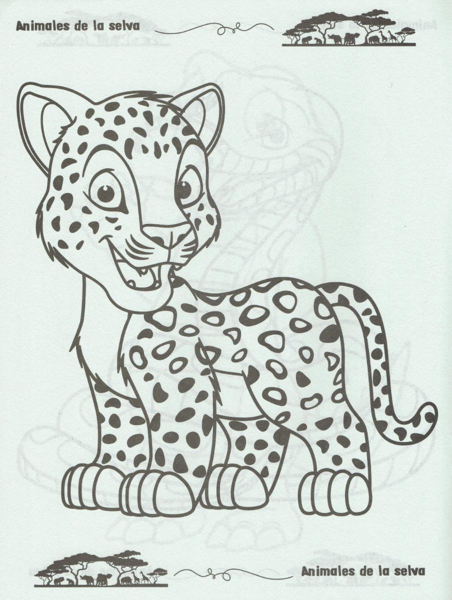20 Libros Para Colorear Animales De La Selva