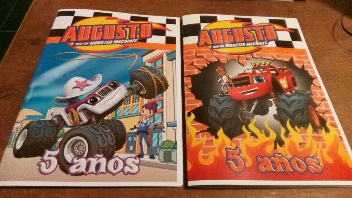 20 Libros P/colorear Souvenirs Blaze Monster Machines 15x21 - $ 300 ...
