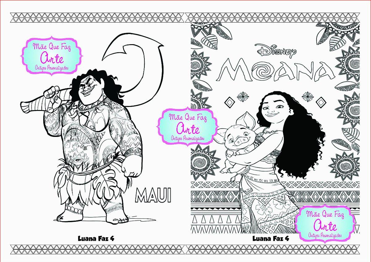 20 Livros De Colorir Moana R 55 00 Em Mercado Livre