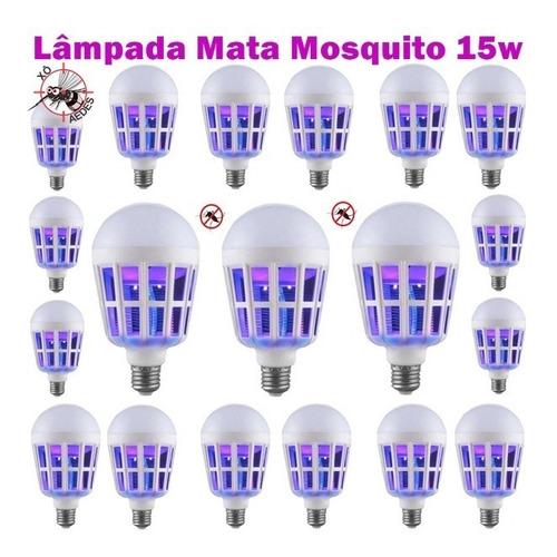 20 lâmpada mata mosquito zika pernilongo mosca 15w bivolt