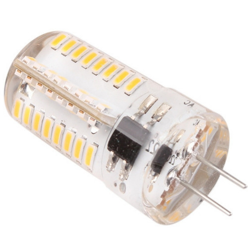 20 lâmpadas g4 4w 110v 64 led dimerizável branco frio 6000k