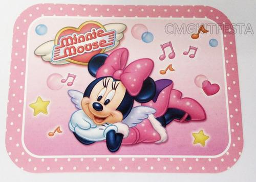 20 marmitas para festa infantil 250g tema minnie rosa