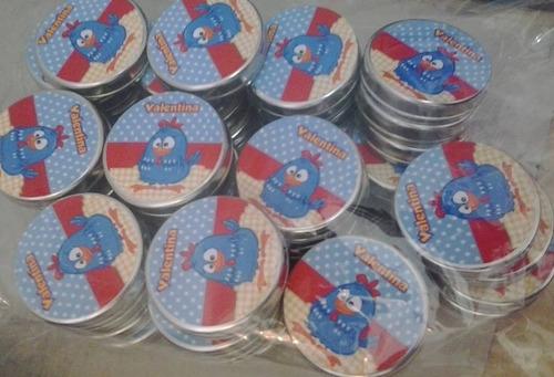 20 marmitinhas + 20 latinhas + 20 tubetes personalizados