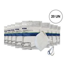 20 Máscaras Ksn Proteção Hospitalar N95 Pff2 - Reg. Anvisa