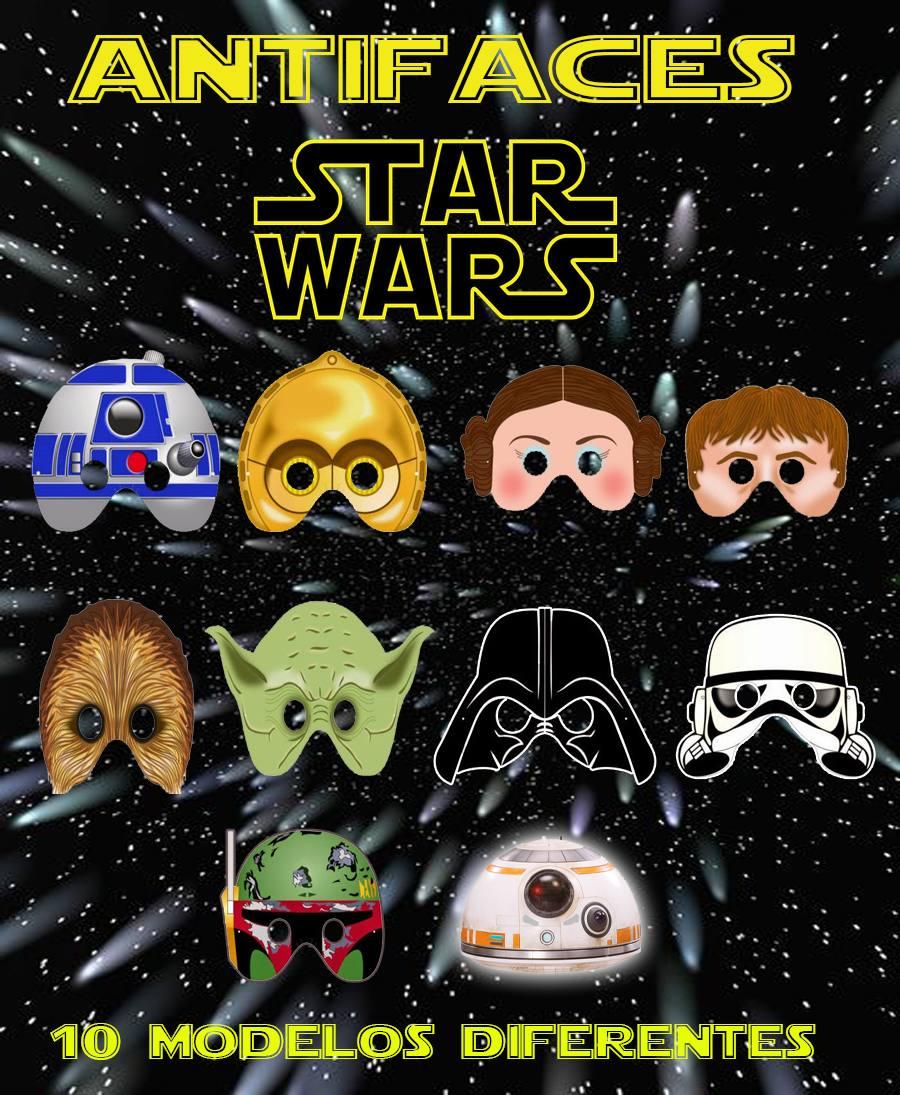 20 Mascaras Star Wars Para Fiesta Tematica Cumpleanos 200 00 En