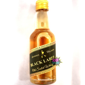 20 Mini Drinks 50ml Vidros Tipo Black Label Whiskie K15