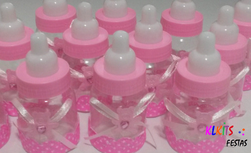 20 mini mamadeira lembrancinha cha de bebe maternidade