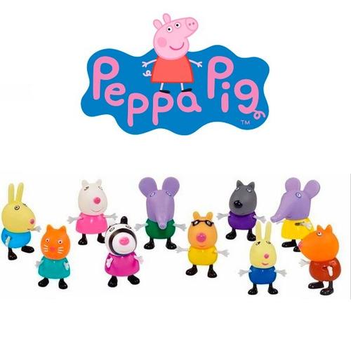 20 miniaturas família peppa pig e sua turmar - kit completo