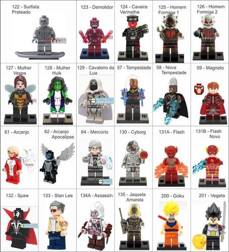 20 minifiguras bonecos + frete grátis compatível lego