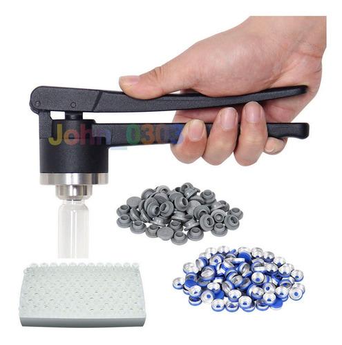 20 mm flip-off vial prensado sellador manual + 100 juegos de