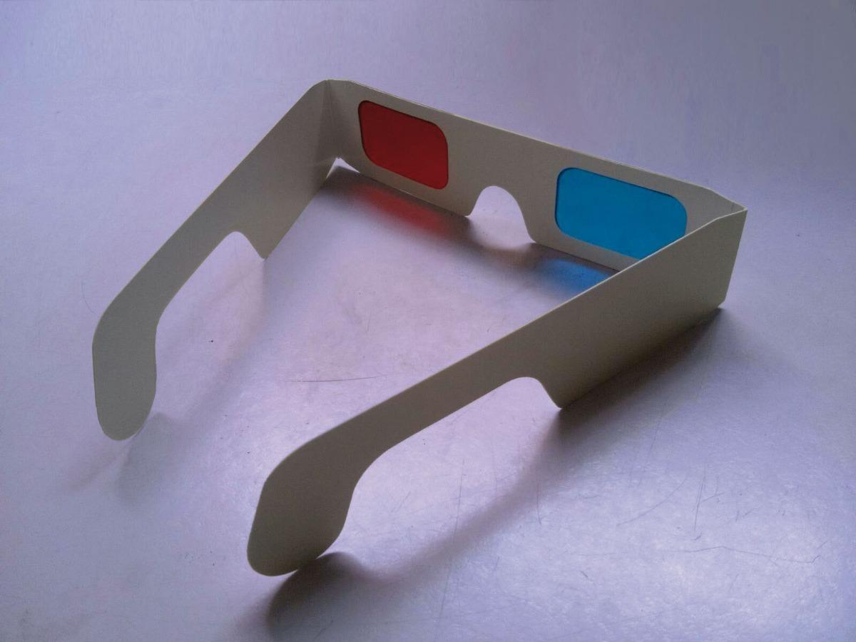 c6fbb21d1812c 20 óculos 3d lentes vermelha e azul - anáglifo - papelão. Carregando zoom.
