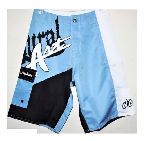20% off board short (bermuda) natural art 030421 azul surf