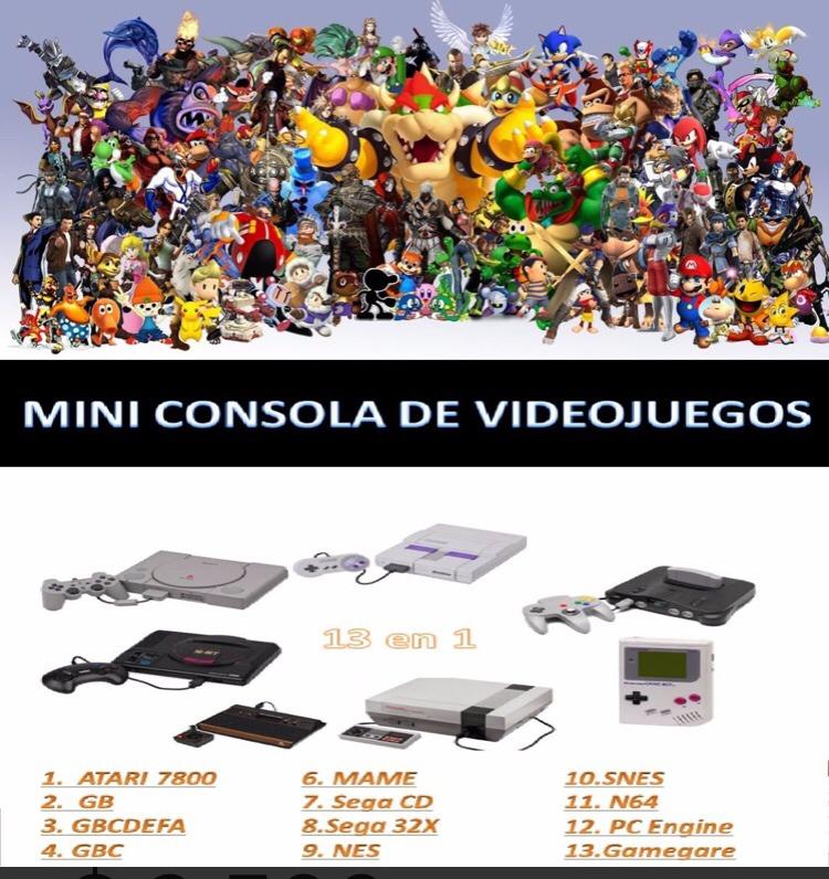 20% Off Mini Consola Videojuegos Retro 2 Inalambrico