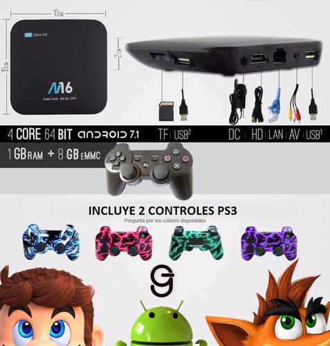 20% off mini consola videojuegos retro tv box 2 inalambrico