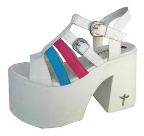 d921177dc3 Zapatos Plataforma Recta Muy Alta Para Verano - Sandalias y Ojotas  Sandalias de Mujer Blanco en Mercado Libre Argentina