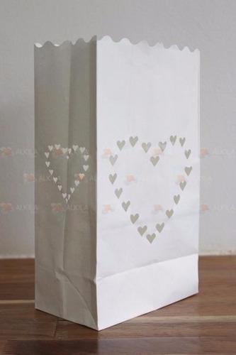 20 pack bolsas decorativas papel para boda, bautizo, eventos