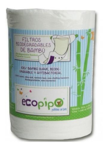 20 pack ecopipo lisos más 2 filtros de bambú -12% msi